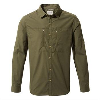 Craghoppers Adult Unisex Kiwi Boulder Long Sleeve Shirt, L Dark Khaki