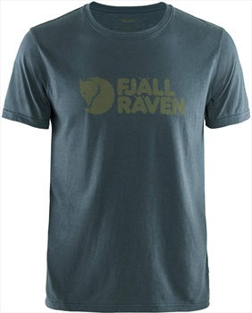Fjallraven Fjällräven Logo Short Sleeve Graphic T-Shirt, L Navy
