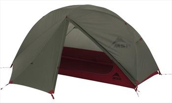 MSR Elixir 1 V2 Tent Solo Backpacking Shelter, 1 Man Green