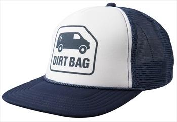 Black Diamond Flat Bill Trucker Hat, OS Captain / White