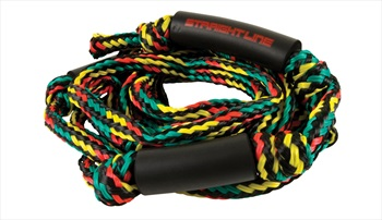 Straight Line Knotted Wakesurf Rope 20 Feet 4 Section