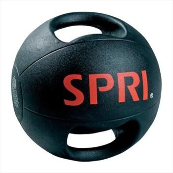 SPRI Dual Grip Xerball Medicine Ball 9 KG Black