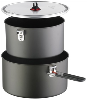 MSR Ceramic 2-Pot Set Compact Camping Cookware, 2.5L Grey
