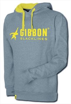 Gibbon Hoodie Slacklining Hoody, S, Grey/Yellow