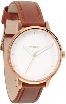 Nixon Kensington Leather Women's Watch, Rose Gold/White