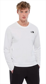 The North Face Long-Sleeve Easy Crew Neck T-Shirt, L TNF White