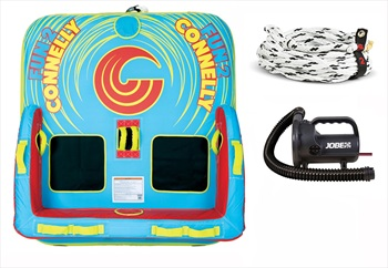 Connelly Fun Towable Inflatable Tube Package, 2 Rider Deluxe