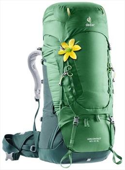 Deuter Aircontact Backpacking Rucksack, 60 + 10L Leaf/Forrest