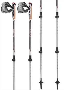Leki Traveller Alu Adjustable Nordic Walking Poles White/Black