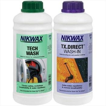 Nikwax Twin Tech Wash/TX Direct Wash In Clothing Waterproofer, 1 Litre
