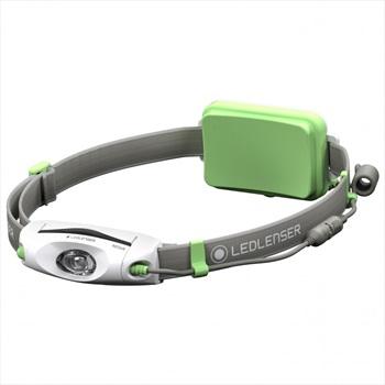 Led Lenser NEO6R Headlamp IPX7 Rechargable Running Head Torch, Green