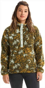 Burton Hearth Pullover Women's Snap-Up Fleece, S Wheeler Camo