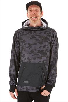 Saga Fleece Riding Pullover Technical Hoodie/ Midlayer, L Black Camo