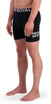 Mons Royale Hold'em Merino Wool Thermal Boxers, XL Black/Black