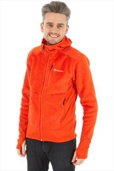 Montane Wolf Hoodie Polartec Thermal Fleece Jacket, L Orange
