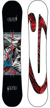 GNU Carbon Credit Asym Banana Camber Snowboard, 159cm Wide 2020