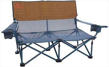 Kelty Mesh Low Loveseat Double Camping Chair, 2-Person Blue/Brown