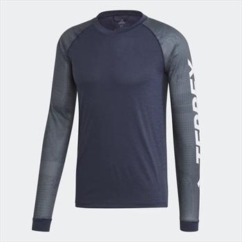 Adidas Trailcross Technical Longsleeve Top, XL Legend Ink/Black