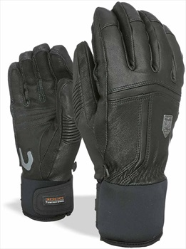 Level Off Piste Leather Ski/Snowboard Glove, 10 -XXL Black
