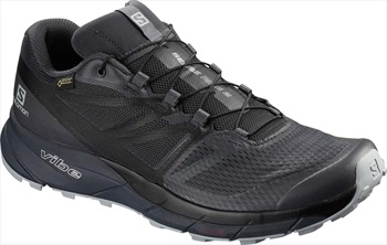 Salomon Sense Ride 2 GTX Invis. Fit Trail Running Shoe, UK 10.5 Ebony