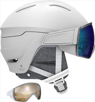 Salomon Mirage+ Blue Solar Women's Ski/Snowboard Helmet, M White