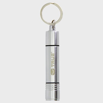 True Utility FireLite Mini Keyring Torch & Lighter, Silver