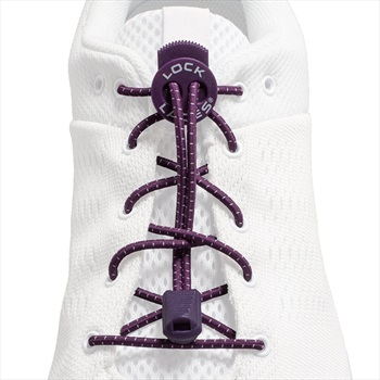 Lock Laces Adult Unisex No-Tie Replacement Shoelaces, One Size Purple