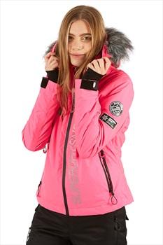 Superdry SD Ski Run Women's Ski/Snowboard Jacket, L Pink Grit 2020
