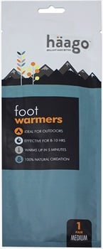 Haago Disposable Recyclable Foot Warmer Insoles, M