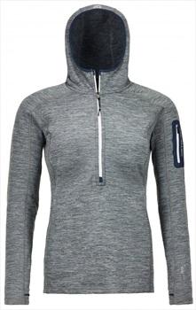 Ortovox Womens Fleece Light Melange Zip Neck Fleece - M, Grey Blend