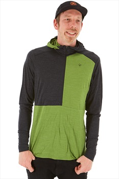 Norrona Wool Thermal Hoodie M Bamboo Green/Charcoal