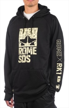 Rome RK1 Pullover Ski/Snowboard Technical Hoodie, L Black