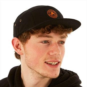 Absolute Logo Patch 5 Panel Cap Hat, Black