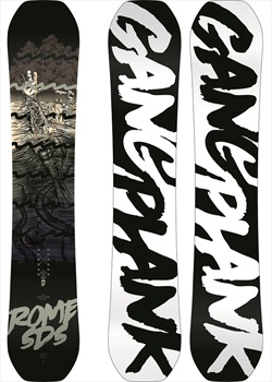 Rome Gang Plank Reverse Camber Snowboard, 160cm Wide 2020