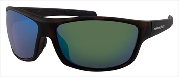 North Beach Codling Green Polarised Sunglasses, Matte Brown Tortoise