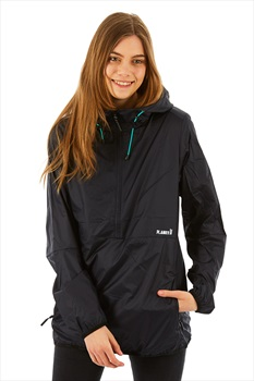 Planks Shredorak Women's Packable Ski/Snowboard Anorak, S Black
