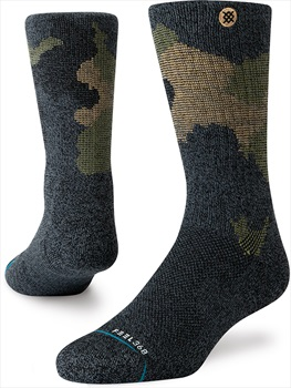 Stance Pennell Hike Crew Walking/Hiking Socks, M Black