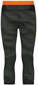 Odlo Blackcomb 3/4 Pants Mens Baselayer, L Ivy/Black/Orange