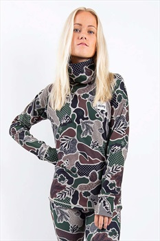 Eivy Icecold Gaiter Top Women's Thermal Baselayer, M Camo Landscape