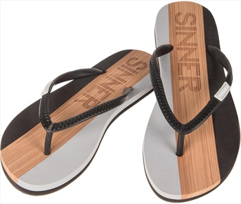 Sinner Capitola Women's Flip Flops, UK 5 / EU 38 Black/Light Brown