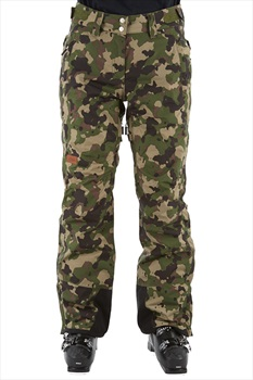 Planks Good Times Women's Ski/Snowboard Pants, M British Camo