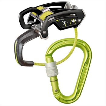 Edelrid Giga Jul Belay Strike Screw Rock Climbing Belay Device, Oasis