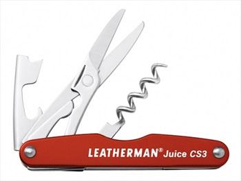 Leatherman Juice CS3 Pocket Multi-Tool, 4-in-1 Cinnabar