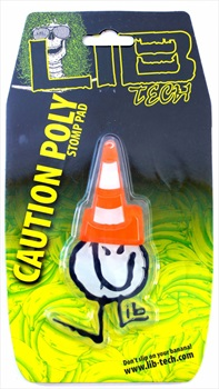 Lib Tech Caution Poly Traction Snowboard Stomp Pad, White/Orange