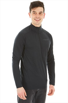 Norrona Equaliser Merino Zip Neck Long Sleeve Top L Caviar