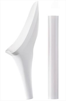 Shewee Flexi + Free Peebol Female Urination Package Deal, Pure White