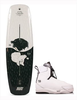 Liquid Force Raph | Tao 4D Wakeboard Package, 147|9-11 Black White