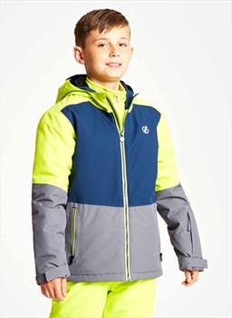 Dare 2b Aviate Kid's Ski/Snowboard Jacket, Age 7-8 Grey/Blue/Lime