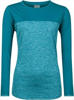 Berghaus Voyager Tech Women's Long Sleeve T-Shirt, M Tahitian Tide