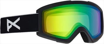 Anon Helix 2.0 Sonar Green Ski/Snowboard Goggles, S/M Black